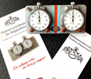 Stoppuhrplatine KLICK Legendär GU VINTAGE EDITION mit Hanhart Timer