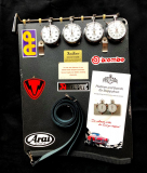 Lap Timer / Stopwatch Board with Hanhart Stopwatches with long Distance 10h Timer black