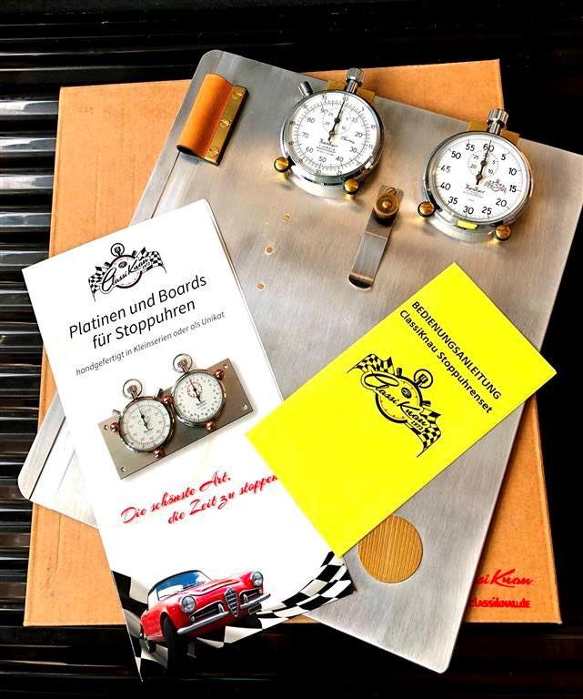ClassiKnau Rallye Board RETRO mit Hanhart Timer