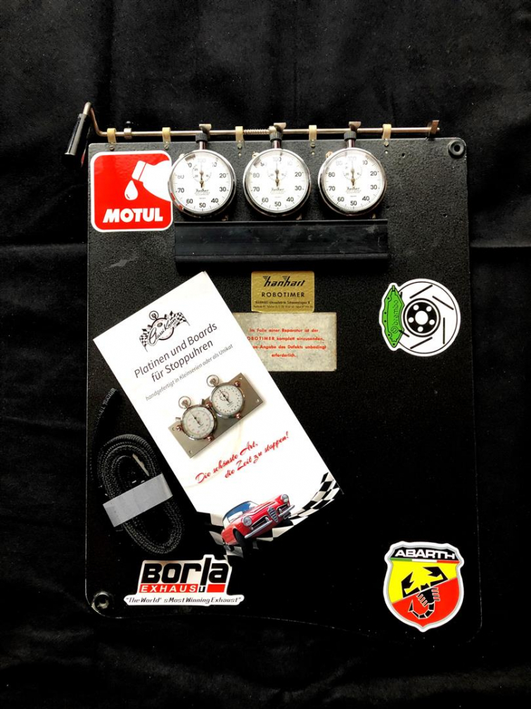 Lap Timer / Stopwatch Board with Hanhart Stopwatches black