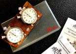 Stoppuhrplatine echt Wurzelholz Edition mit  Hanhart Timer