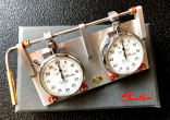 ClassiKnau stopwatch board CLICK Set with start / stop function and Hanhart Timer
