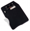 STOP WATCH BOARD  LEATHER BLACK WITH READ SEAM & CARBON BOARD