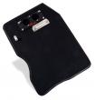 Stoppuhrenboard Leder schwarz mit roter Naht & Carbonplatine